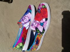 Hand painted shoes by Nancy' schaff