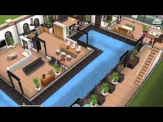 10 Easy Home Decor Ideas Above Ground Pool Decks, In Ground Pools, Sims Freeplay Houses, Sims House Design, Sims Free Play, Sims House Plans, Home Library Design, Eclectic Furniture, Easy Home Decor
