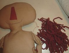You are Special Patterns: Doll hair and how I attach to dolls head