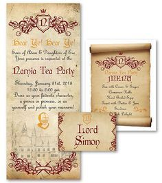 chronicles of narnia party invitations - Google Search