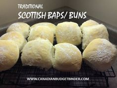 One of the most popular bun recipes on Canadian Budget Binder! Scottish Baps aresimple to make and the house will smell delicious. Scottish Dishes, Scottish Recipes, Irish Recipes, English Recipes, Scottish Desserts, Scottish Bread Recipe, British Dishes, Bread Bun, Bread Rolls