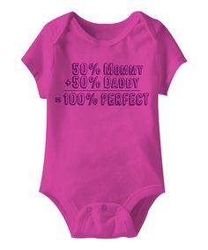 Another great find on #zulily! Raspberry '100% Perfect' Bodysuit - Infant #zulilyfinds