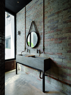 This would be a nice outdoors bath wash area or for a cabin. Gallery | Australian Interior Design Awards