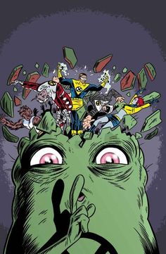 X-Force cover by Mike Allred. Doop