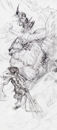 Sketches and Preliminaries by Tyler Jacobson, via Behance
