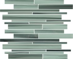Surfz Up Hand Painted Linear Glass Mosaic Tiles | Rocky Point Tile - Online Glass Tile and Glass Mosaic Tile Store