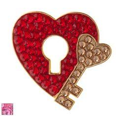 Bonjoc Ladies Key to My Heart Ball Markers by Seema Sparkle