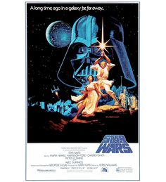 Star Wars: Episode IV - A New Hope - Mark Hamill, Harrison Ford, Carrie Fisher, Peter Cushing, Alec Guinness Star Wars Film, Star Wars Poster, Star Wars Episódio Iv, Star Wars Art, Iconic Movie Posters, Original Movie Posters, Iconic Movies, Great Movies, Excellent Movies