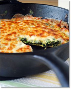 Herb, spincah  and Brie frittata
