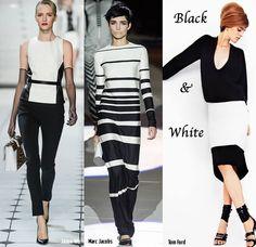 Bianco e nero nella collezione primavera estate 2013. Très chic.