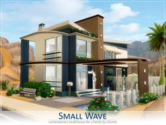 Small Wave house by Lhonna at TSR via Sims 4 Updates
