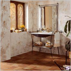Badmöbel Hierro - SEBASTIAN e.K. - gold lackierte Standfuß, perfekt für ein Gäste-WC