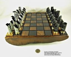 Large 16 Inch custom made steampunk caliber bullet shell Wooden Board Games, Vintage Board Games, Wood Shop Projects, Lathe Projects, Bullet Shell, Different Kinds Of Art, Classic Board Games, Art For Sale Online, Router Wood