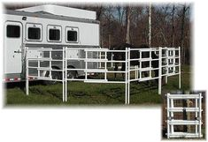 Horse Corral with Trailer Attachment. Thats awesome I saw a pink horse corral it was amazing