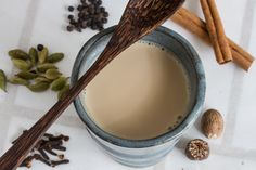 DIY Chai Latte (way better than at your local coffee shop). Recipe here: http://food52.com/blog/8599-almost-instant-chai. #Food52
