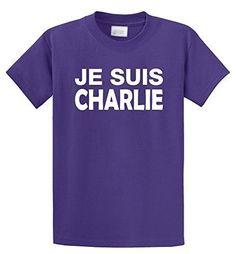 Comical Shirt Men's Je Suis Charlie I Am Charlie Shirt Mens T-Shirt Purple 3XL, Size: XXXL