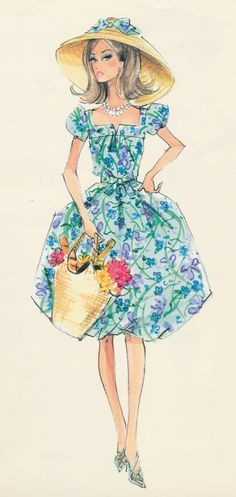 Fashion Illustration, Great Hat!!!, Barbie Calendar