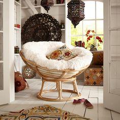 Papasan Cushion - Shaggy Sand | Pier 1 Imports