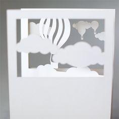 hot air balloon vignette   plane paper   laser-cut stationery
