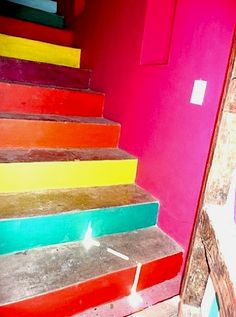 painted stairs in Mexico