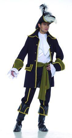 Disfraz pirata bucanero adulto