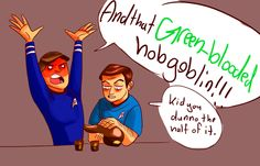 The new and old Bones. They totally hate Spock