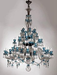 Baccarat crystal chandelier.