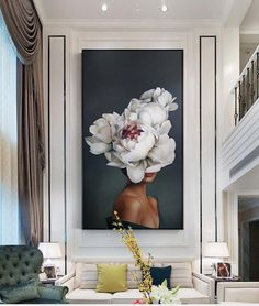 Canvas Painting Wall Art Girl Flowers Posters And Prints Oil Painting Artwork Bilder Wall Picture Home Decor For Living Room Canvas Wall Art, Wall Art Prints, Canvas Prints, Designers Guild, Abstract Flowers, Decoration, Living Room Decor, Diy Home Decor, Wall Decor