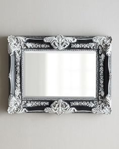 """Antiqued+Black+""""French""""+Mirror+at+Horchow."""
