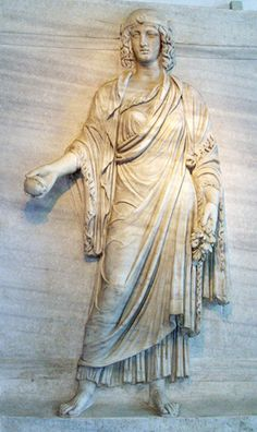 Amazon gathering fruits and flowers. Roman Museum. Ancient Rome, Ancient Art, Ancient History, Art History, Roman Sculpture, Sculpture Art, Classical Greece, Roman Empire, Archaeology