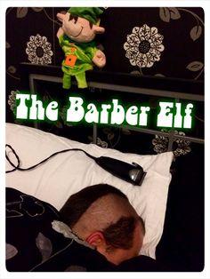 Barber Elf - Elf on the shelf idea  Elf shaves dad's head! #elfpranks #elfontheshelf