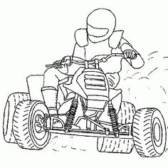 motorcycle coloring pages | Sport coloring - Quad, skid, motocross, coloring, page free coloring