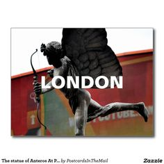 The statue of Anteros At Piccadilly Circus Postcard