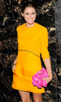Orange IS the new black, and Olivia Palermo KNOWS it // #celebritystyle