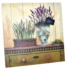 Perfect for your hall!   Lavender pot painting 38x38 cm model (39,99 lei), Bam Boo, Baneasa Shopping City