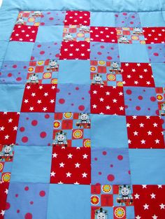 Thomas the tank engine childrens patchwork quilt. £30.00, via Etsy. |Pinned from PinTo for iPad|