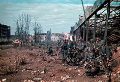 Preparing for an assault on a warehouse in Stalingrad, most likely in the later part of 1942