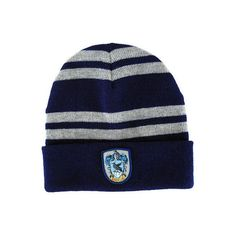 Harry Potter Ravenclaw Beanie Hat ($12) ❤ liked on Polyvore featuring accessories, hats, harry potter, ravenclaw, hogwarts, beanie cap, beanie hat and beanie cap hat