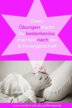 Diese Übungen sind ungefährlich und sicher. Gerade nach Schwangerschaft und Geburt muß man darauf achten