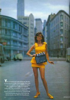 Microsuit - A Big Hit in Disney World I Vogue UK I March 1991 I Editor: Harriett Jagger I Photographer: Arthur Elgort I Models: Meghan Douglas, Mystee Beckenback.