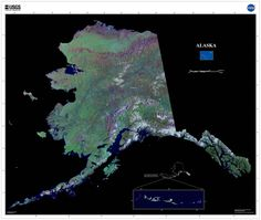 These US Geological Survey satellite maps were made with Tri-Decadal Global Landsat Orthorectified ETM+ Pan-Sharpened satellite imagery draped over National Elevation Dataset (NED) data. Major cities