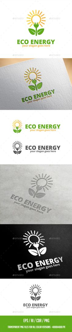 Eco Energy Logo Template: Nature Green Logo Design Template by ragerabbit. Creative Brochure, Creative Logo, Cool Business Cards, Business Card Design, Logo Design Template, Logo Templates, Corporate Id, Drinks Logo, Green Logo