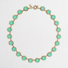 Factory crystal stud necklace