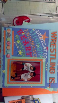 Wrestling scrabook page youth