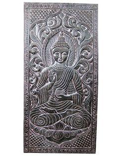 "Indian Wall Panel Buddha Teaching Vitarka Mudra Meditation Door Panel 72"" X 36"" Mogul Interior http://www.amazon.com/dp/B00P8RJ96G/ref=cm_sw_r_pi_dp_u3oxub0ZG3SXT"
