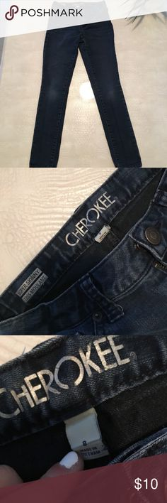 Blue super skinny jeans! On the newer side! Blue super skinny jeans! Cherokee Bottoms Jeans