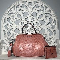 Patricia Nash Gracchi Satchel & Cassis Wallet in Coral Tuscan Tooled Leather | eBay Tooled Leather, Leather Tooling, Leather Crossbody, Leather Backpack, Crossbody Bag, Patricia Nash, Handbags On Sale, Italian Leather, Cross Body Handbags