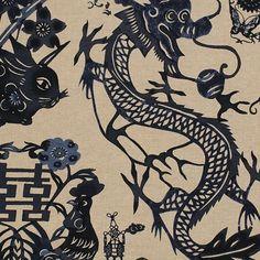 Pearson's Handblocked Lucky Dragon Print 8080-54