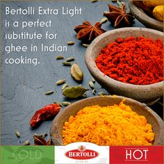Bertolli Olive Oil is great for all types of cooking! Did you know... #indian #yum #spice #seasoning #curry