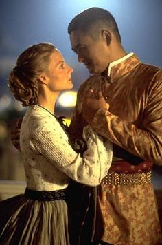 Anna and the King (1999). Such a beautiful compliment he gives her here, as he holds her hand in his, over his heart!